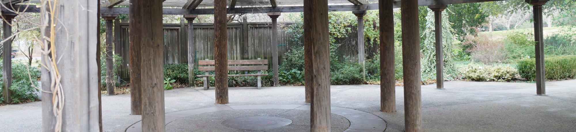 Image of the UC Davis Arboretum Gazebo.